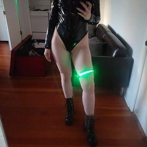 Green - LED Buckle Choker Garter Rave Accessory
